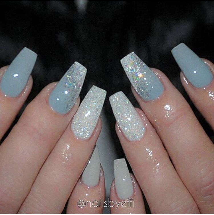 Christmas Acrylic Nails Grey: 37 Perfect Winter Nails For The Holiday Season