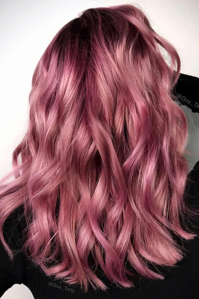 Examples of Rose Gold Balayage