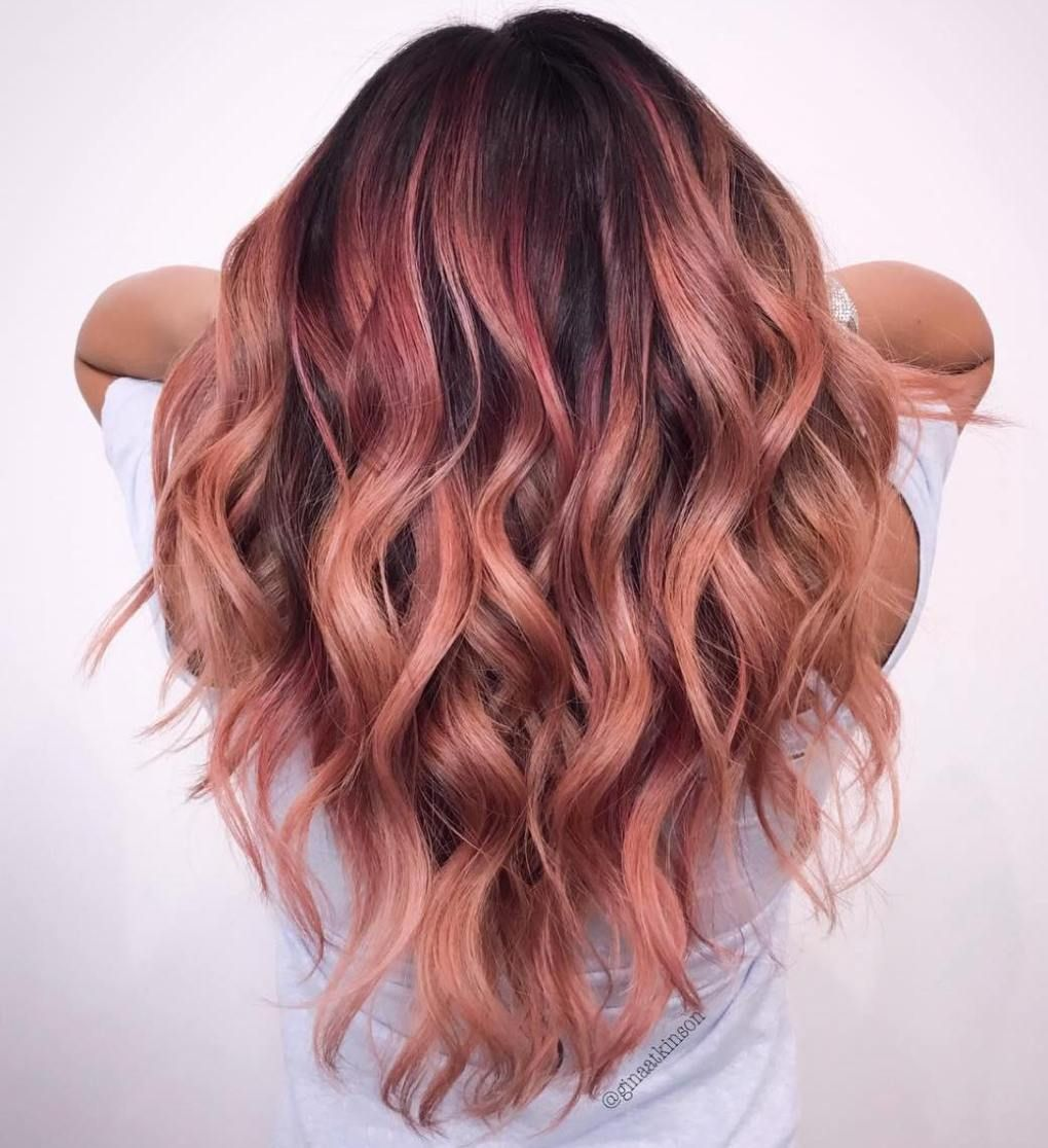 32 Examples Of Rose Gold Balayage Eazy Glam