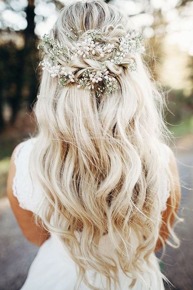 Gorgeous Half up half down hairstyles