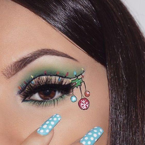 35 Amazing Glitter Christmas Makeup Ideas