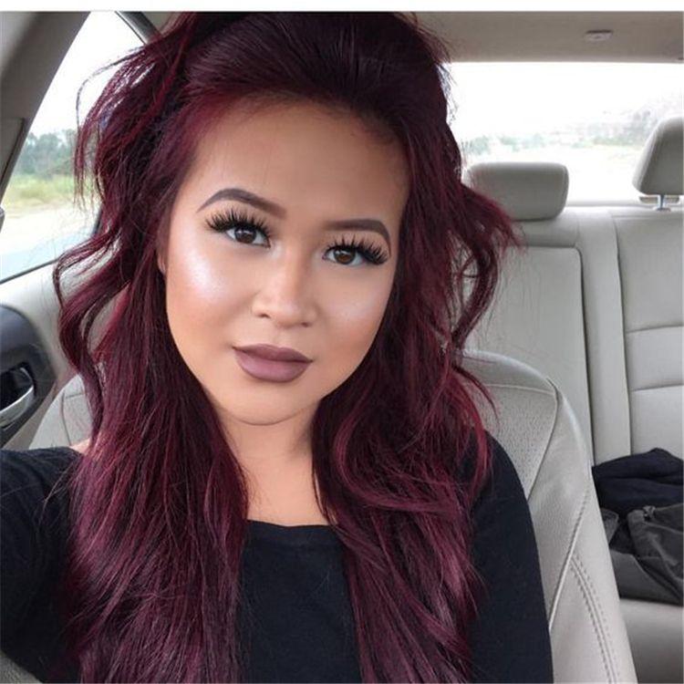 49 Burgundy Hair Color Ideas to Love